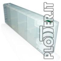 Cartuccia Vuota Light Ciano Ricaricabile trasparente senza Chip per DesignJet  - Hp Color copier 210